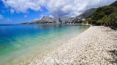 beach brzet omiš croatia youtube