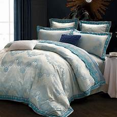 luxury wedding bedding silk satin bedding sets cotton bed sheets four pieces queen king size bed