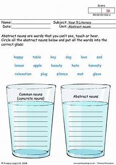 abstract nouns worksheets for 3rd grade concrete and abstract nouns nouns worksheet