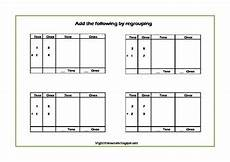 addition worksheet for grade 1 with carryover 9412 regrouping poster addition with carryover and subtraction with borrowing