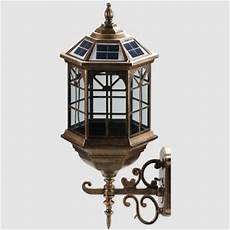vintage style 9 inches wide decorative outdoor solar led wall light beautifulhalo com