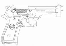 ausmalbild beretta pistole ausmalbilder kostenlos zum