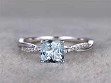 white gold aquamarine engagement rings with diamonds