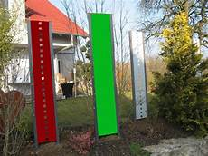 Garten Stelen Metall - sichtschutz stele aus metall