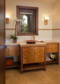 craftsman style bathroom ideas craftsman bathroom with wooden cabinets hgtv