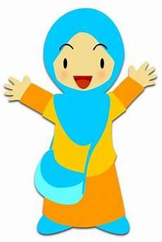 Gambar Animasi Anak Muslim Sekolah Nusagates
