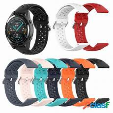 Bakeey 22mm Checked Silicone by 22mm Doppio Colorei 450465 Bracciale Banda Posot Class