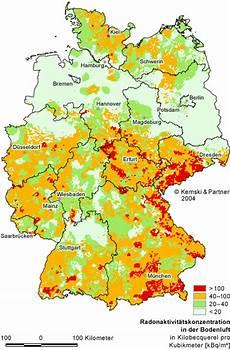 radonbelastung bayern karte radonpotenzial in deutschland