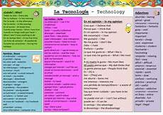 ks4 spanish technology vocabulary sheet by dannielle89 teaching resources