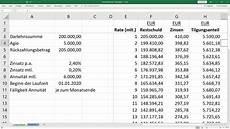 finanzierung berechnen formel tilgungsplan f 252 r annuit 228 tendarlehen berechnen vorlage