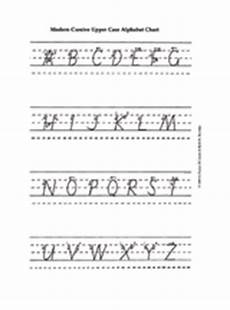 handwriting worksheets for cursive 22000 modern cursive uppercase alphabet printable pre k 3rd grade teachervision