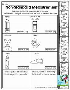 free non standard measurement worksheets for kindergarten 1865 non standard measurement measuring items with snowmen tons more great activities to ge math