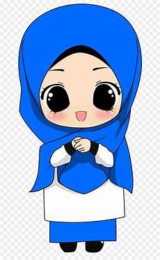 102 Gambar Kartun Muslimah Dari Belakang Plazzzza