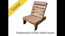 le selber bauen stuhl aus europaletten diy tutorial
