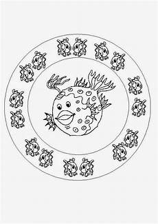 Malvorlagen Mandala Fische Coloring Pages Fish Mandala Coloring Pages Free And Printable