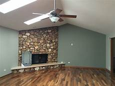 cornwall slate and amazing gray sherwin williams stone fireplace living room brazil nut