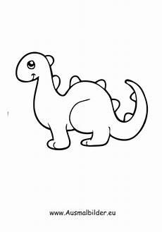 Malvorlage Dino Einfach Ausmalbild Spielzeug Dinosaurier Zum Ausdrucken