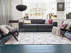 tapis blanc de style scandinave hexagon esprit home