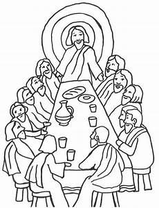 Ausmalbilder Ostern Bibel Szene Des Letzten Abendmahls Mit Jesus Und Seinen J 252 Ngern