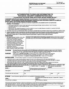ssa 827 form ssa 827 form 2012 fillable printable social security