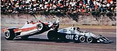 Gilles Villeneuve Crashes Out Of The 1977 Japanese Grand