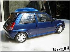 renault 5 gt turbo miniature bleu lagon phase 2 norev 1 18