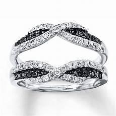 black diamond enhancer ring 1 2 ct tw cut 14k white gold 960225605 sterlingjewelers