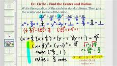 ex 4 write general equation of a circle in standard form