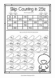 skip counting by 5 s to 1000 worksheets 12080 skip counting in 25s to 1000 by 25s printables worksheets by walker