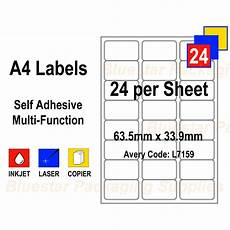address labels white self adhesive a4 bluestar packaging