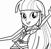 My Little Pony Equestria Girls Coloring Page  Free