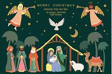 nativity religious christmas clipart illustrations creative market