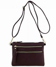 Multi Pocket Small Crossbody Bag multi zipper pocket small wristlet crossbody bag wine