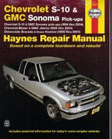 free online car repair manuals download 1994 chevrolet 3500 seat position control chevrolet gmc s 10 sonoma haynes pick up truck repair manual 1994 2004