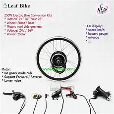 24 inch 36v 250w front bldc hub motor electric bike conversion kit