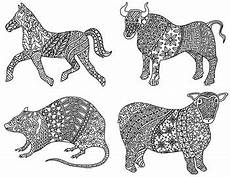 new year animals coloring pages 17108 12 animals of the zodiac new year coloring pages by kennedy