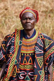 man in traditional dress in cameroon african culture