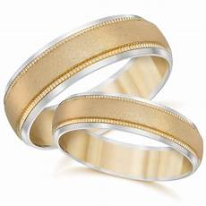 gold matching his hers two tone wedding band ring set ebay