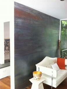 A Contemporary Multi Color Accent Wall Finish Created With