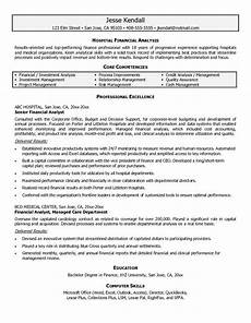 financial analyst resume sle financial analyst resumes financial analyst goals and objectives