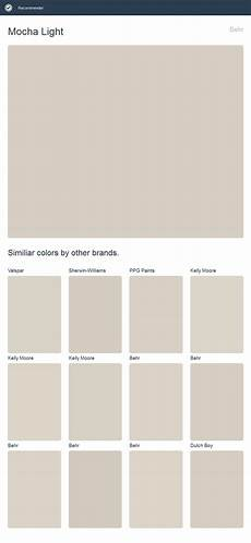 mocha light behr click the image to see similiar colors by other brands paint