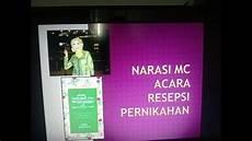 Mc Malvorlagen Bahasa Indonesia Naskah Pembawa Acara Teks Mc Acara Resepsi Nikah Bahasa