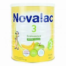 lait en poudre sans lactose novalac 3 croissance lait en poudre banane pomme 1 3 ans pot 800g naocia