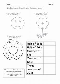 fraction worksheets tes 4113 fractions for year 1 by corrinep teaching resources tes