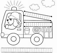 transportation safety worksheets 15235 truck trace worksheet przedszkolne materiały dydaktyczne aktywności w przedszkolu edukacja