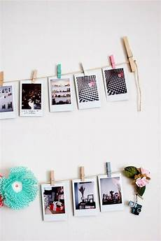 Fotos An Wand Ideen - fotos an garn festklemmen und die wand dekorieren