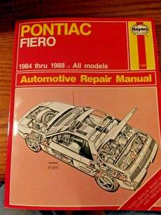 manual repair autos 1988 pontiac fiero auto manual pontiac fiero 1984 1988 haynes repair manual 1232 ebay