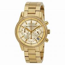 michael kors ritz chronograph gold