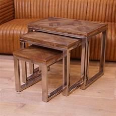 Runder Wohnzimmertisch Holz - 3er tisch set wohnzimmertisch beistelltisch holz shabby