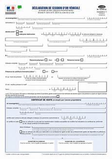 certificat de vente de véhicule route occasion formulaire certificat de cession de